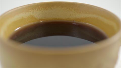 Steaming cup of coffee. 4K UHD Footage