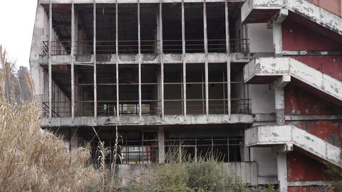 Abandoned Building in Garden 4 Stock Video Footage