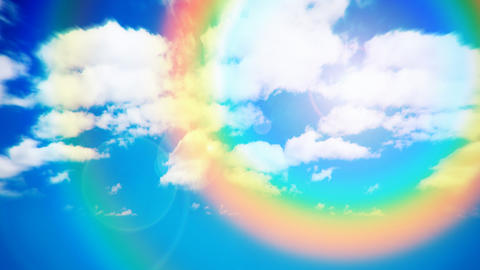 Rainbow sky Animation