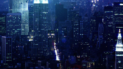 NYC NIGHTS stock footage