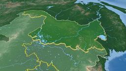 Heilongjiang province extruded. Bumps shaded Animation