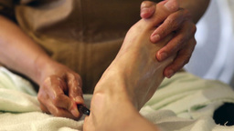 Thai Foot Massage stock footage