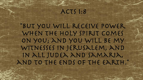 Bible Verse Acts 1:8 Footage
