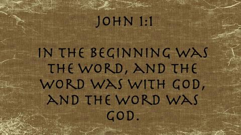 Bible Verse John 1:1 Footage
