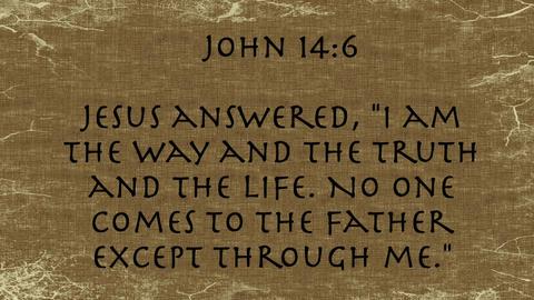 Bible Verse John 14:6 Footage