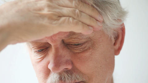 Mature Man With Headache stock footage