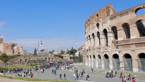 Colosseum, Panormo. Rome, Italy Footage