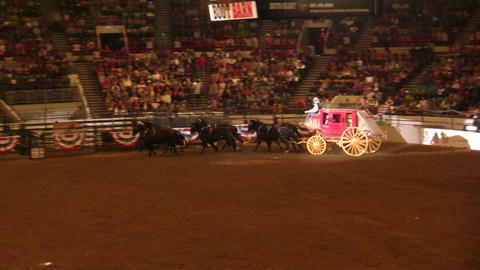 Stage Coach With Full Horse Drawn Carriage Footage
