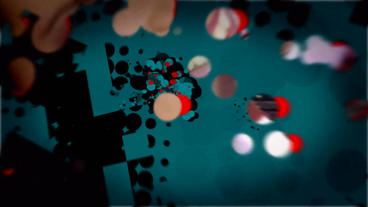 Particle Pop Project stock footage