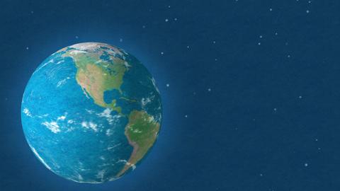 Felt Earth Zoom In EU stock footage