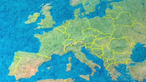 Felt earth zoom in EU Footage