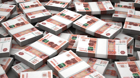 Stack of Russian Ruble Animation