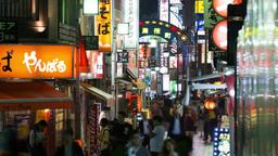 4k kabukicho nightlife tokyo red light district japan city Footage