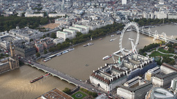 4k london city aerial helicopter flight urban skyline Footage