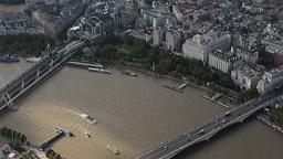 4k london city aerial helicopter flight urban skyline Footage