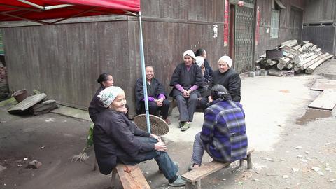 Locals in village Footage
