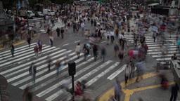4k Scramble Crossing Tokyo Pedestrian Interesection Japan Transport People City stock footage