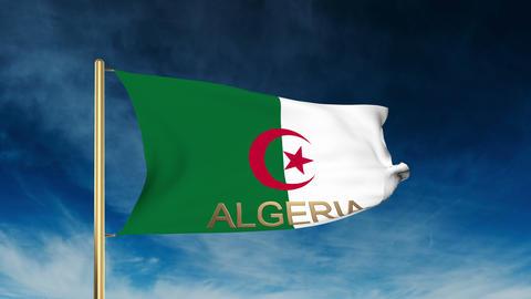 Algeria flag slider style with title Footage