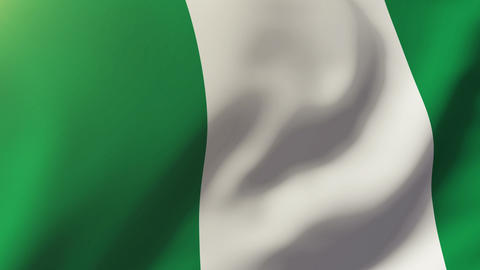 Nigeria flag waving in the wind. Looping sun rises style. Animation loop Animation