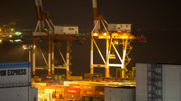 4k tokyo japan shipping harbour port industrial trasnportation cargo Footage