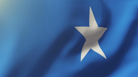 Somalia flag waving in the wind. Looping sun rises style. Animation loop Animation