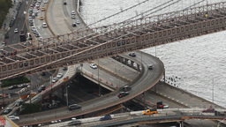 timelapse of brooklyn bridge manhattan new york Footage
