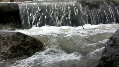 (Perfect Loop) Wide Concrete Waterfall stock footage