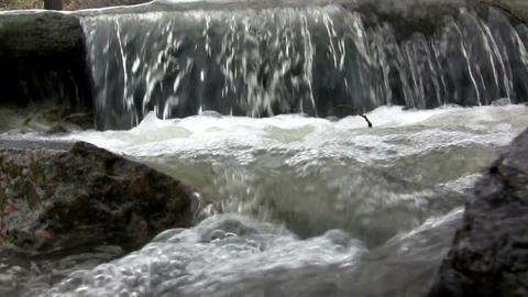 (Perfect Loop) Wide Concrete Waterfall Footage