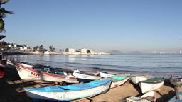 fishing boats at sunrise mazatlan mexico Footage