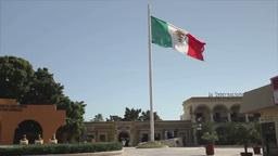 mexican flag baja california Footage
