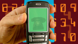 Mobile Old Telephone stock footage