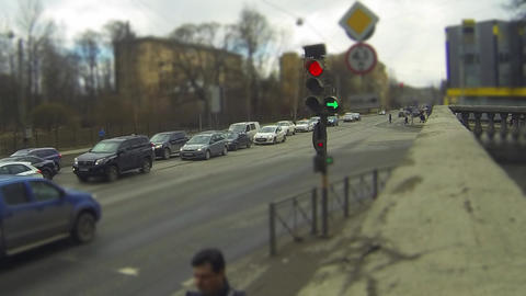 Traffic Light Time Lapse stock footage