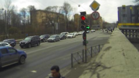 traffic light time lapse Footage