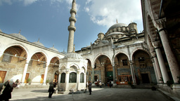 yeni cami mosque inside Footage