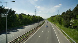 motorway traffic urban transport cars road Footage