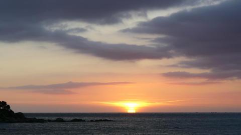 Sunrise over the Mediterranean Sea Footage