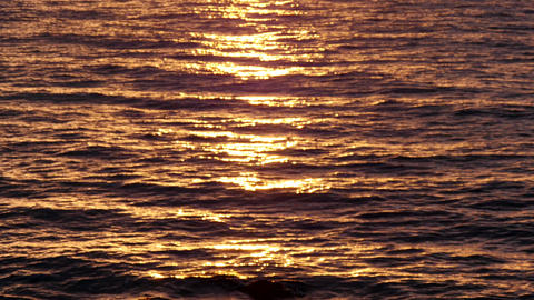 Golden Sea Waters at Sunrise Footage