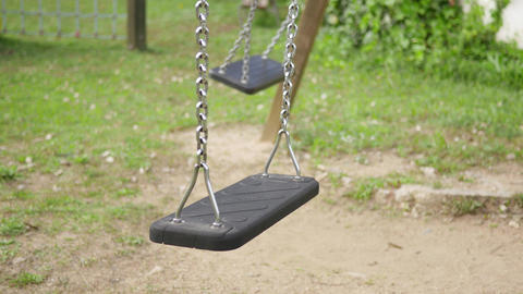 Empty Swings Swinging Footage