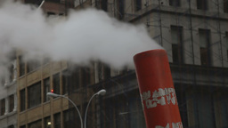 smoke chimney manhattan nyc subway, new york Footage