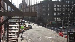 Traffic New York Skyline Manhattan NYC Ny Timelapse stock footage