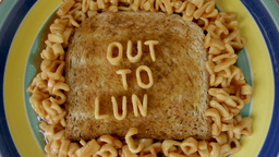spaghetti letters on toast lunch Footage