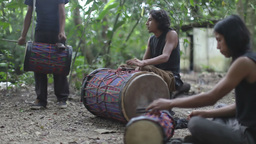 palenque drummers mexican jungle Footage