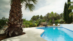 luxury private paradise pool holidays mediterranean Footage