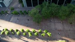 la defense street view, business disctrict, paris france Footage