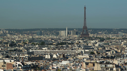 view over paris, eiffel tower, france Footage