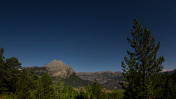 full moon nighttime timelapse mountain range Footage