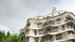 la pedrera gaudi architecture barcelona spain Footage