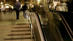 metro crowds barcelona people tourists steps Footage