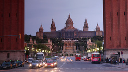 plaza espagna barcelona landmark monument tourist people Footage