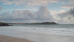 polzeath cornwall coast beach timelapse england Footage